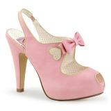 Rosa 11,5 cm BETTIE-03 Pinup zapatos de salón con plataforma escondida