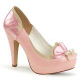 Rosa 11,5 cm BETTIE-20 Pinup zapatos de salón con plataforma escondida