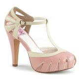 Rosa 11,5 cm BETTIE-25 Pinup zapatos de salón con plataforma escondida