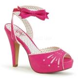 Rosa 11,5 cm Pinup BETTIE-01 sandalias de tacón alto