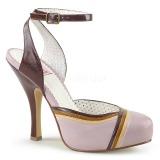 Rosa 11,5 cm retro vintage CUTIEPIE-01 Pinup sandalias con plataforma escondida