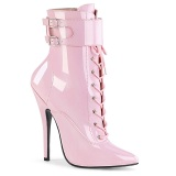 Rosa 15 cm DOMINA-1023 botines con stiletto altos
