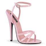 Rosa 15 cm DOMINA-108 zapatos fetiche con tacones altos