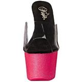 Rosa 18 cm ADORE-701UVG neon plataforma zuecos tacón mujer
