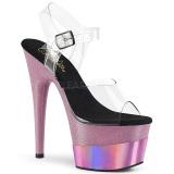 Rosa 18 cm ADORE-708-2HGM Zapatos plataforma con tacones glitter