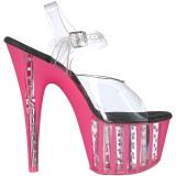 Rosa 18 cm ADORE-708VLRS plataforma zapatos de tacón con piedras