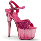 Rosa 18 cm ADORE-710GT brillo plataforma sandalias de tacón alto