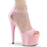 Rosa 18 cm ADORE-765RM brillo zapatos tacones altos con plataforma