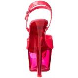 Rosa 18 cm SKY-309UVT Neon Acrilico Plataforma Sandalias Tacón Mujer