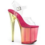 Rosa 20 cm FLAMINGO-808MCT sandalias de pole dance