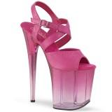 Rosa 20 cm FLAMINGO-822T Zapatos plataforma con tacones