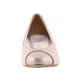 Rosa 4 cm retro vintage LULU-05 Pinup zapatos de salón tacón bajo