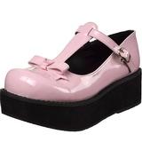 Rosa 6 cm DEMONIA SPRITE-03 Zapatos góticos con plataforma