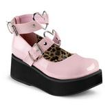 Rosa 6 cm SPRITE-02 lolita zapatos goticos calzados con suela gruesa