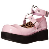 Rosa 6 cm SPRITE-02 lolita zapatos góticos calzados con suela gruesa