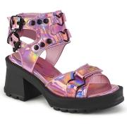 Rosa 7 cm Demonia BRATTY-07 zapatos plataforma chunky tacones