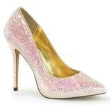 Rosa Brillo 13 cm AMUSE-20G Zapato Salón de Noche con Tacón