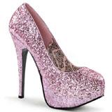 Rosa Brillo 14,5 cm BORDELLO TEEZE-06G Plataforma Zapatos de Salón