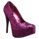 Rosa Brillo 14,5 cm Burlesque TEEZE-06GW zapatos de salón pies anchos hombre