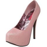 Rosa Brillo 14,5 cm Burlesque TEEZE-31G Platform Calzado de Salón