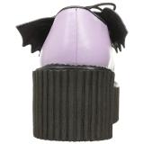 Rosa CREEPER-205 Zapatos de Creepers Mujeres Plataforma