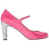 Rosa Charol 10 cm QUEEN-02 zapatos de salón tallas grandes