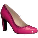 Rosa Charol 10 cm QUEEN-04 zapatos de salón tallas grandes