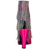 Rosa Charol 10 cm QUEEN-100 botines tallas grandes