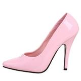 Rosa Charol 13 cm SEDUCE-420 zapatos de salón puntiagudos