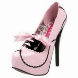 Rosa Charol 14,5 cm Burlesque BORDELLO TEEZE-01 Plataforma Zapatos de Salón