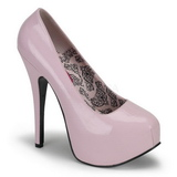 Rosa Charol 14,5 cm Burlesque BORDELLO TEEZE-06 Plataforma Zapatos de Salón