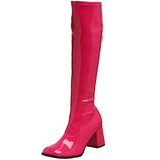 Rosa Charol 8,5 cm GOGO-300 Botas de mujer para Hombres