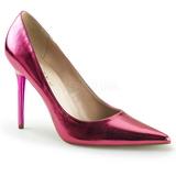 Rosa Metálico 10 cm CLASSIQUE-20 zapatos de stilettos tallas grandes