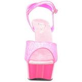 Rosa Neon 15 cm Pleaser DELIGHT-609UVG Plataforma Tacones de Aguja