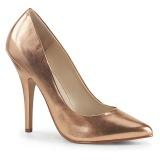 Rosa Oro 13 cm SEDUCE-420 zapatos de salón puntiagudos