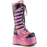 Rosa Polipiel 11,5 cm DEMONIA BEAR-205 botas plataforma góticos