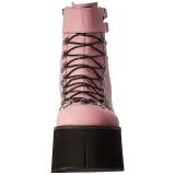 Rosa Polipiel 11,5 cm KERA-21 lolita botines cuña alta