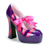 Rosa Purpura 13 cm KITTY-32 Zapatos de tacon altos mujer
