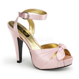 Rosa Satinado 12 cm PINUP COUTURE BETTIE-04 Plataforma Tacones Altos