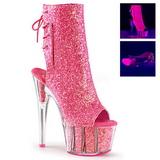 Rosa brillo 18 cm ADORE-1018G botines con suela plataforma mujer
