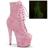 Rosa glitter 18 cm ADORE-1020GDLG botines mujer de pole dance