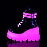Rosa neon 11,5 cm SHAKER-52 botines cyberpunk plataforma