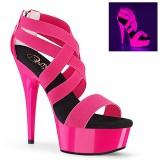 Rosa neon 15 cm DELIGHT-669UV Zapatos con tacones pole dance