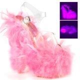 Rosa plumas de marabu 18 cm ADORE-708F Zapatos pole dance