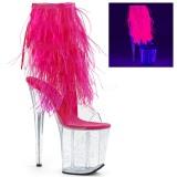 Rosa plumas de marabu 20 cm FLAMINGO-1017MFF Zapatos pole dance