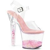 Rosa purpurina 18 cm LOVESICK-708GH Zapatos con tacones pole dance