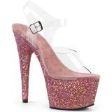 Rosa purpurina 18 cm Pleaser ADORE-708LG Zapatos con tacones pole dance