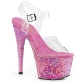 Rosa transparente 18 cm ADORE-708CF Zapatos de striptease