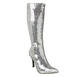 Silver Sequins 9,5 cm FUNTASMA LUST-2001SQ Women Knee Boots