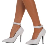Tacones blancos 13 cm SEDUCE-431 Zapato de salón correa de tobillo